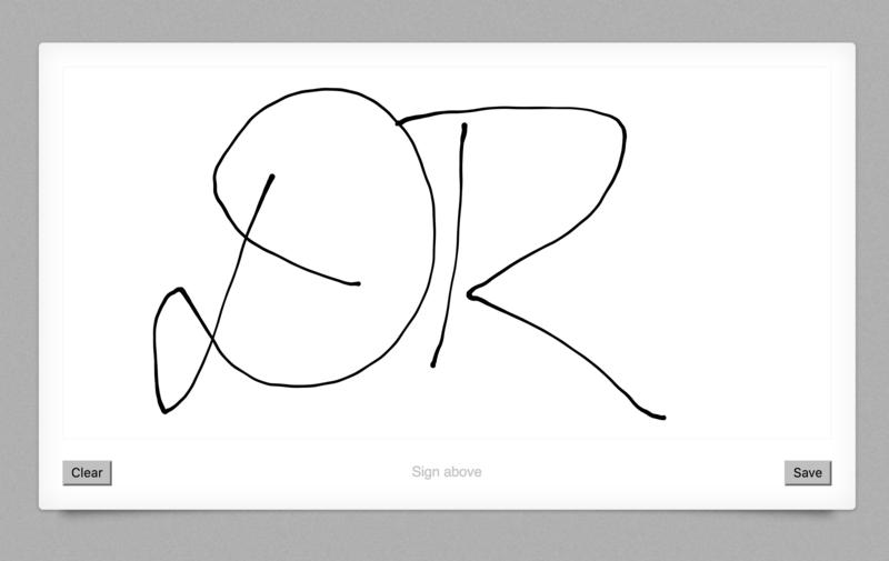 Capturing Signatures with Signature Pad