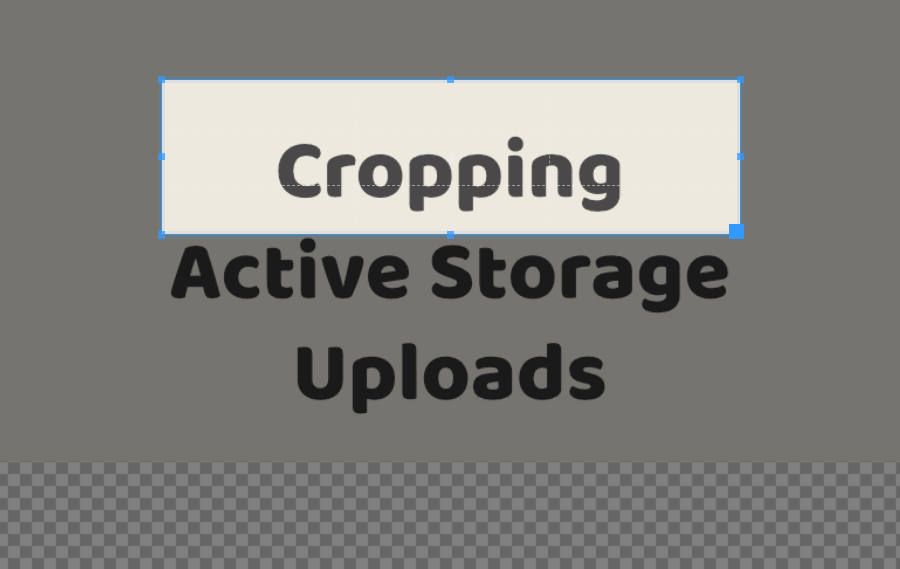 Cropping Active Storage Uploads
