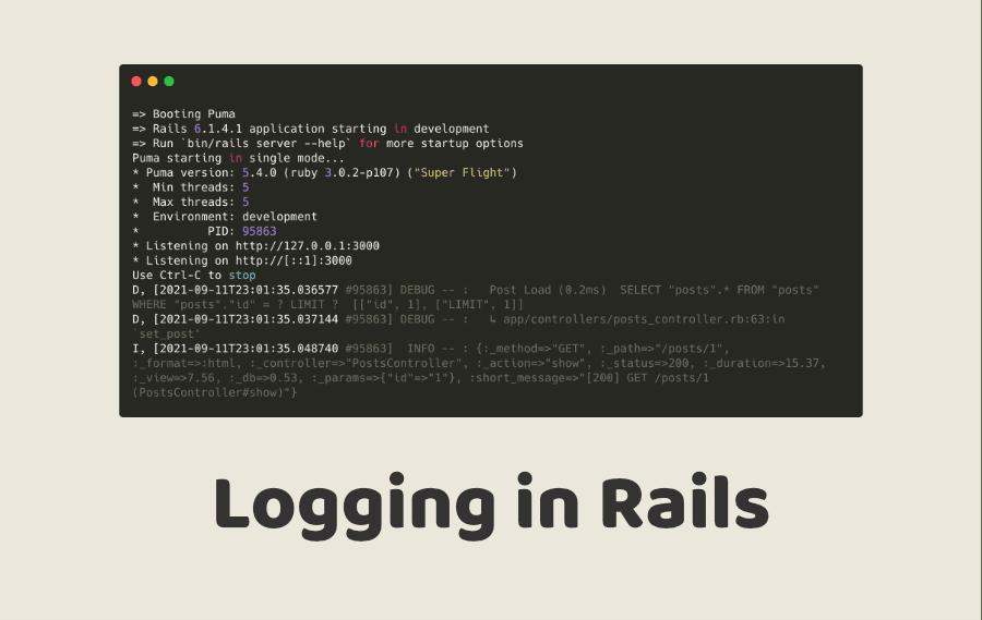 Logging in Rails