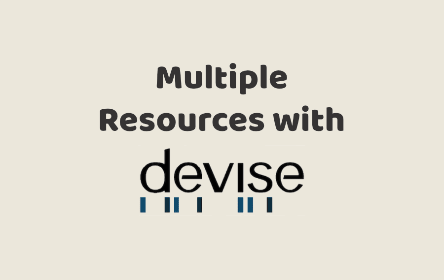 Multiple Resources with Devise
